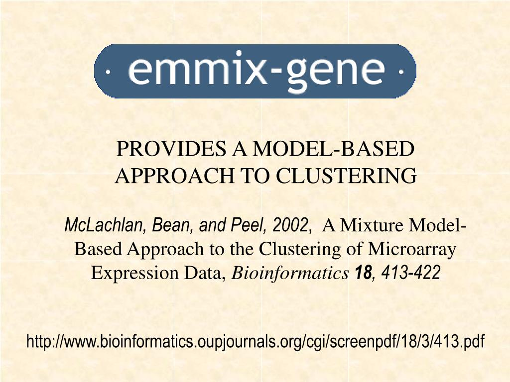 PROVIDES A MODEL-BASED APPROACH TO CLUSTERING
