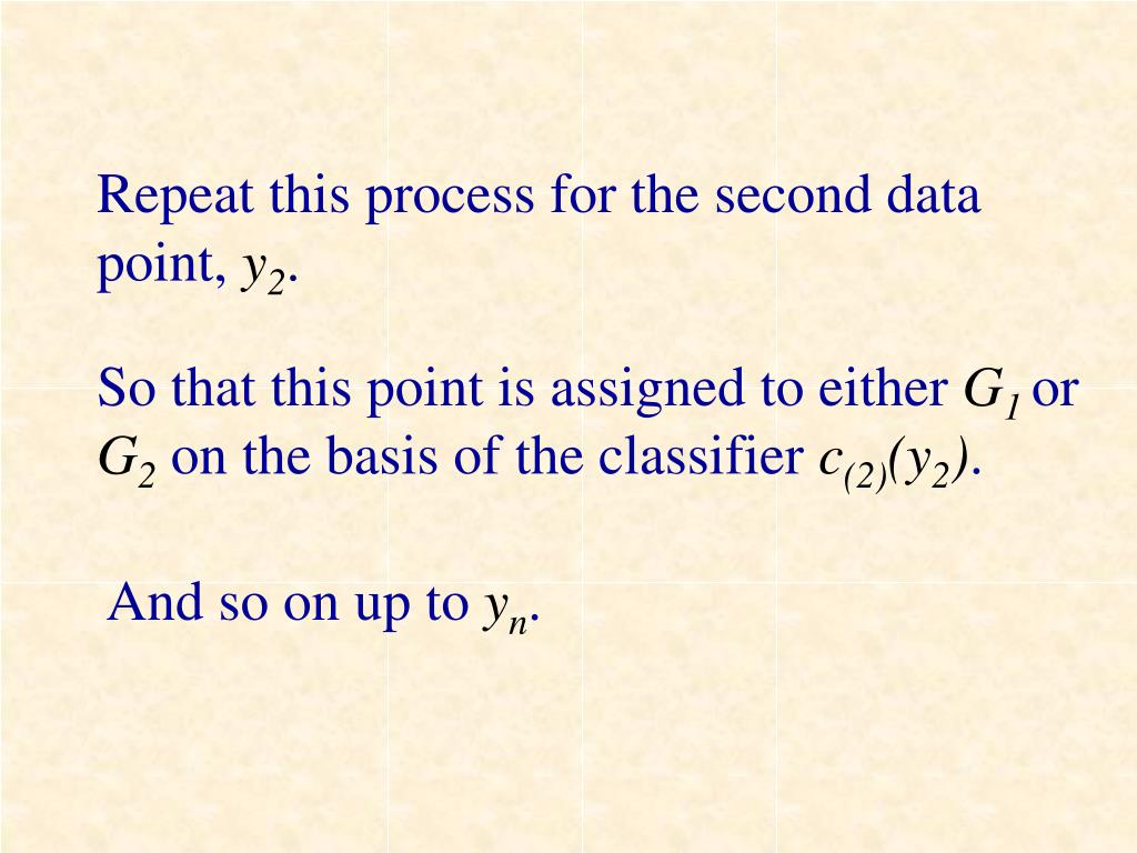 Repeat this process for the second data point,