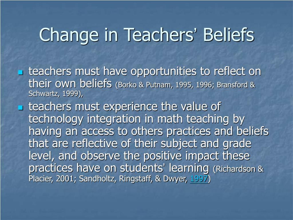 Change in Teachers