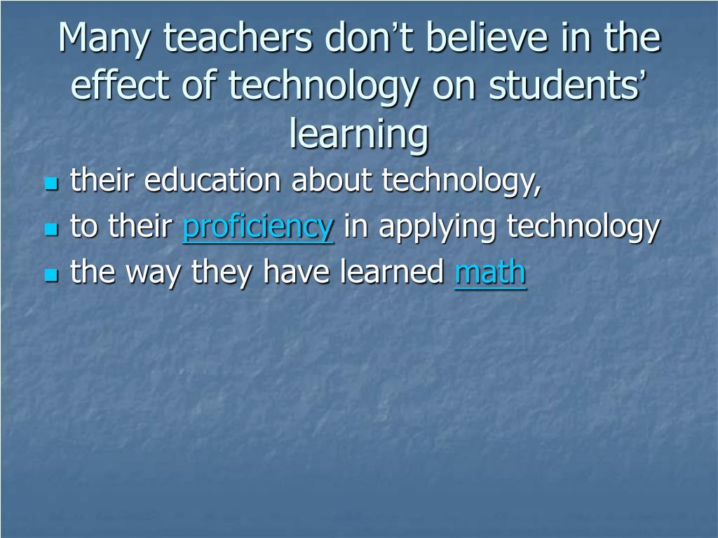 Many teachers don