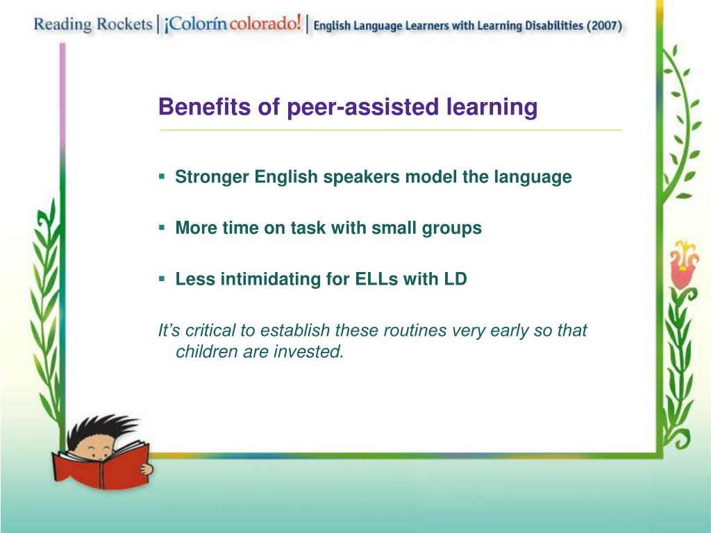 Benefits of peer-assisted learning