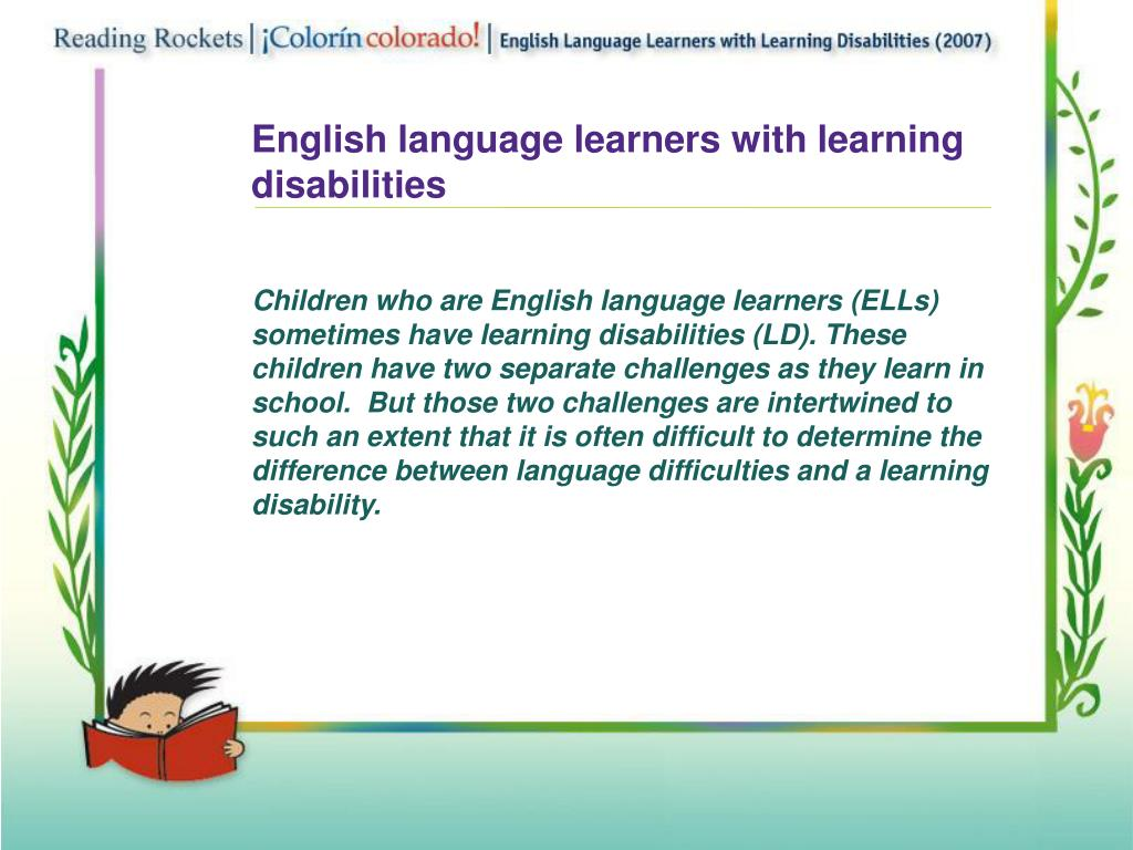 English language learners with learning disabilities