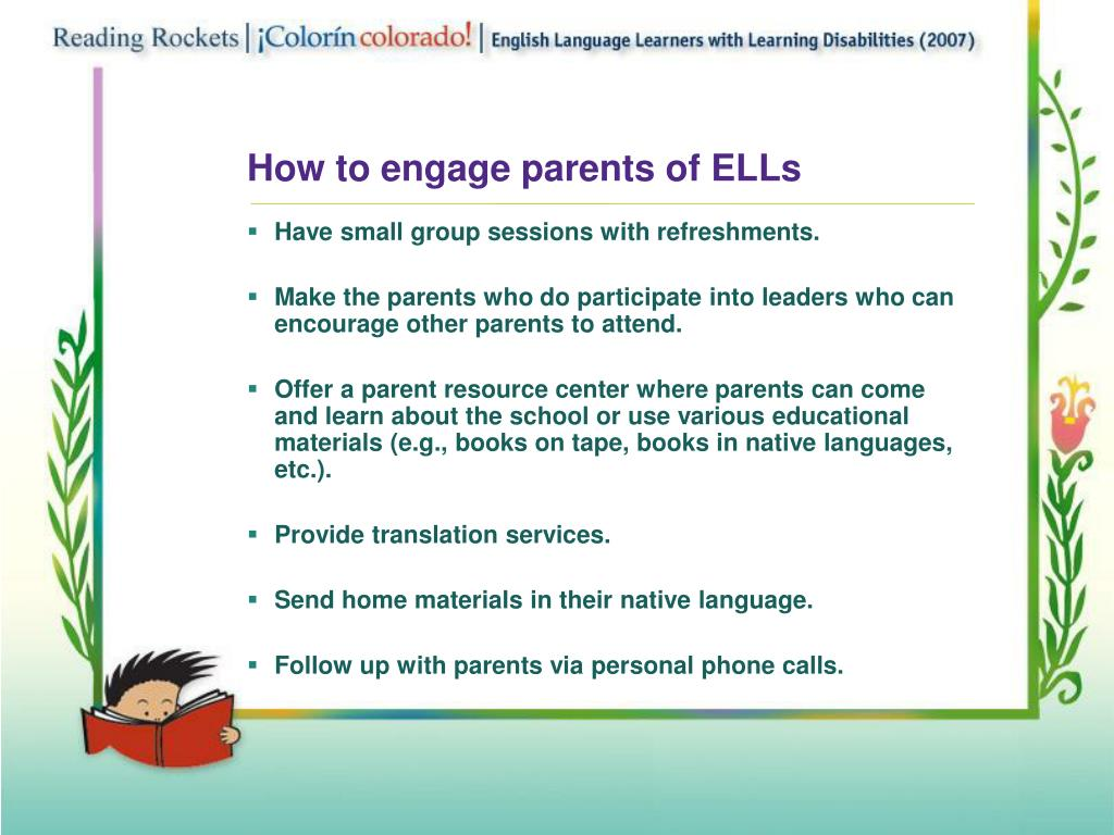 How to engage parents of ELLs