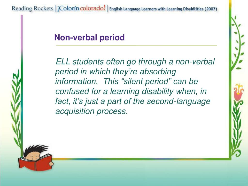 Non-verbal period