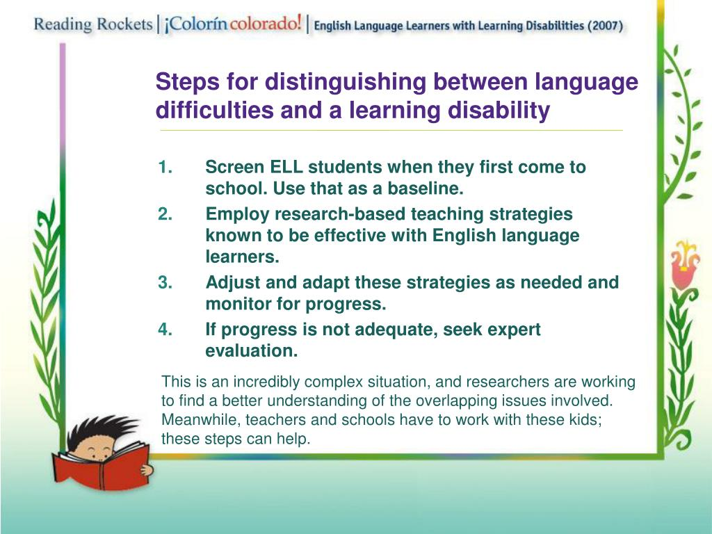 Steps for distinguishing between language
