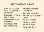 baby boomer issues