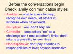 before the conversations begin check family communication styles