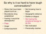 so why is it so hard to have tough conversations