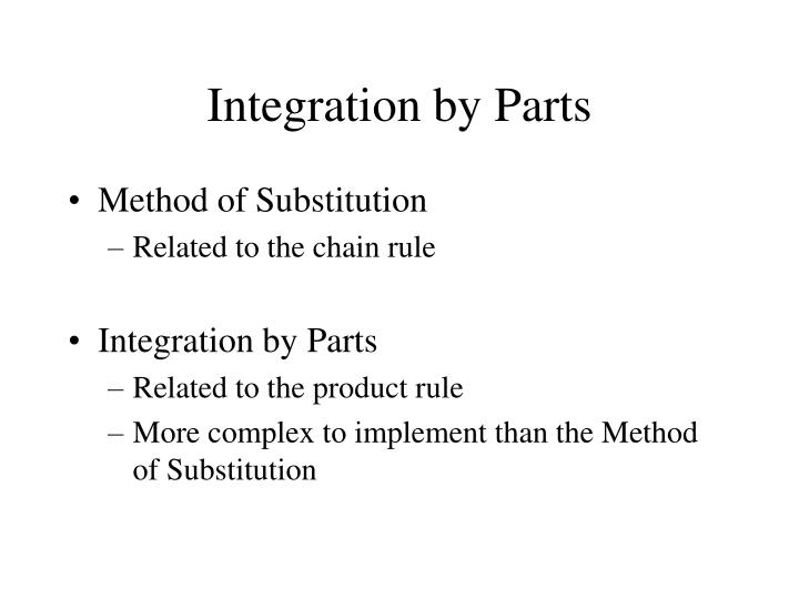 integration by parts n.