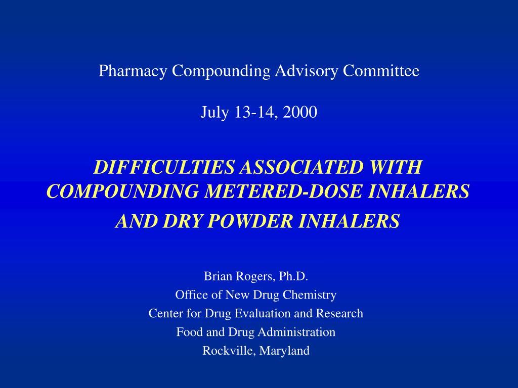 Pharmacy Compounding Advisory Committee