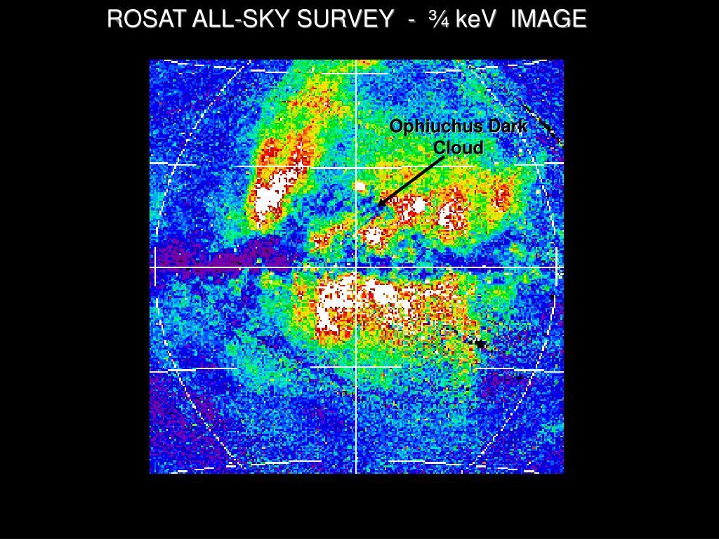 ROSAT ALL-SKY SURVEY  -  ¾ keV  IMAGE