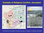 example of religious conflict jerusalem