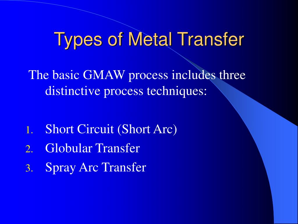 Types of Metal Transfer