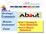 build a strategic framework mission statement vision