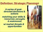 definition strategic planning