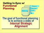 getting in sync w functional planning
