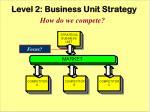 level 2 business unit strategy