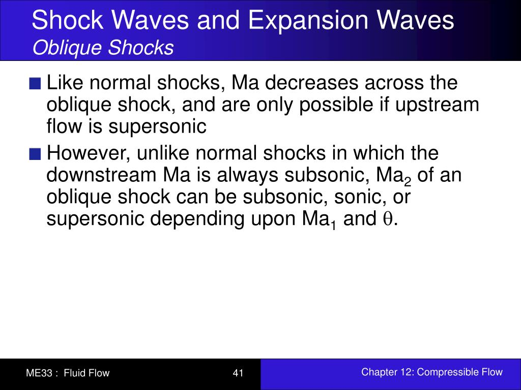 PPT - Chapter 12: Compressible Flow PowerPoint Presentation