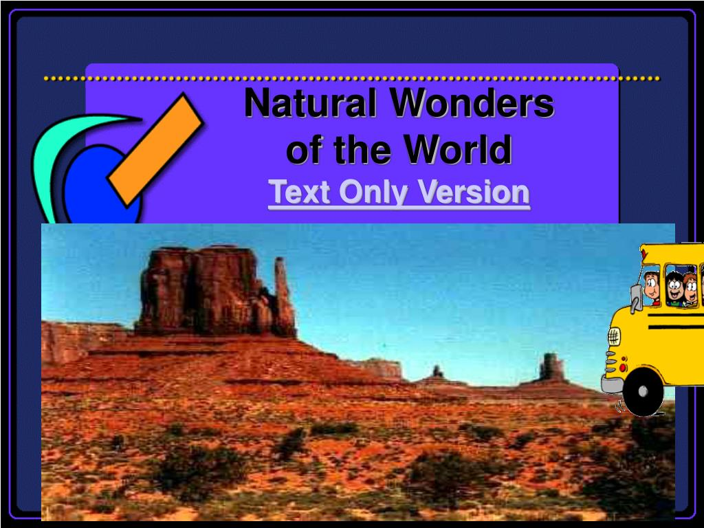 natural wonders of the world text only version l.