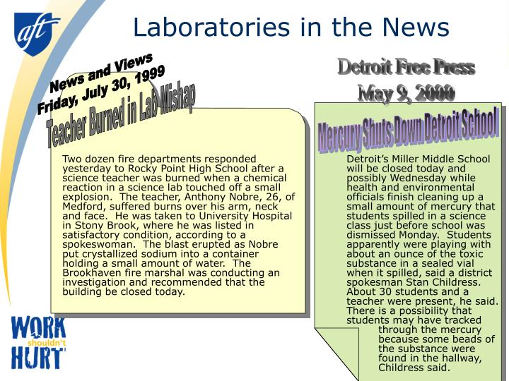 Laboratories in the news