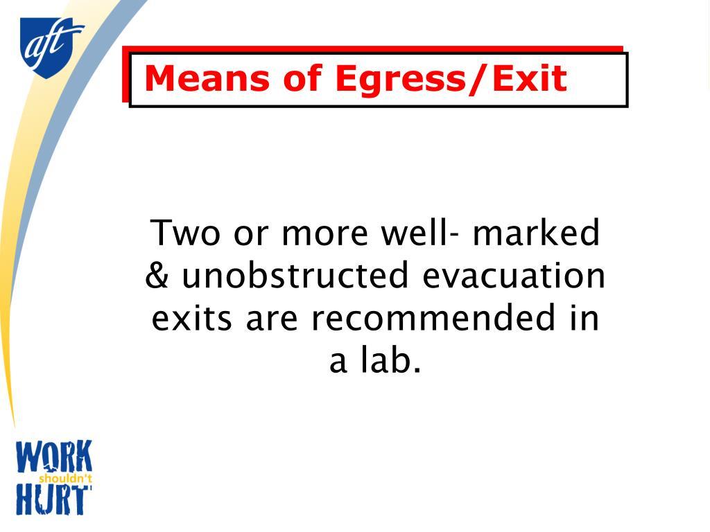 Means of Egress/Exit