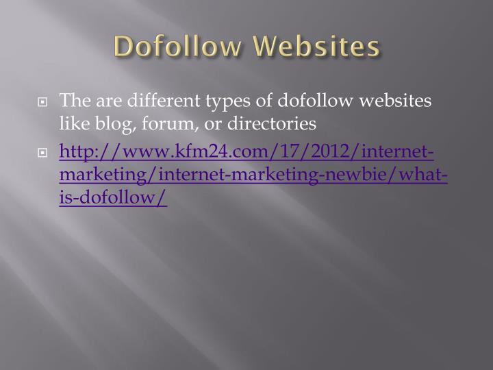 Dofollow websites