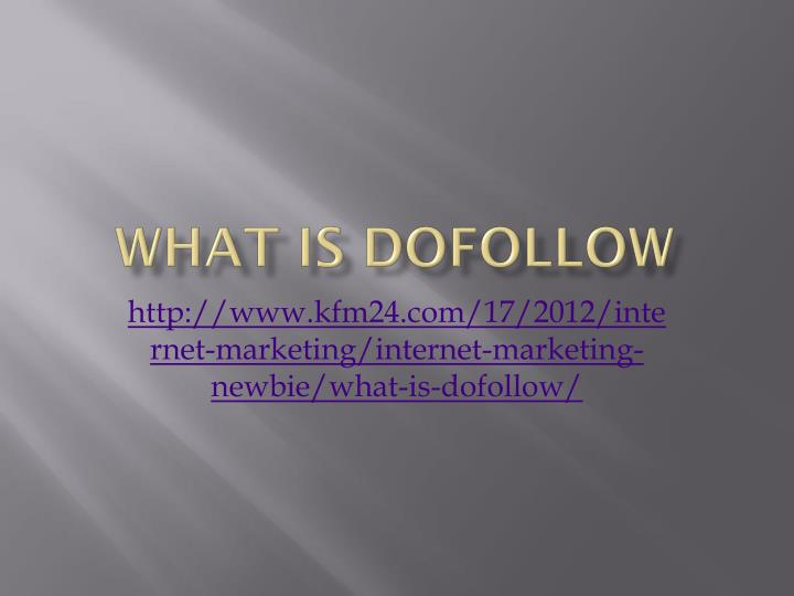 What is dofollow