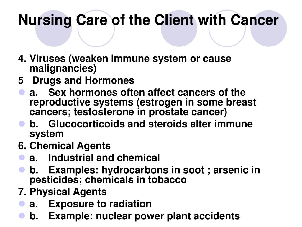 PPT - Nursing Care of the Client with Cancer PowerPoint