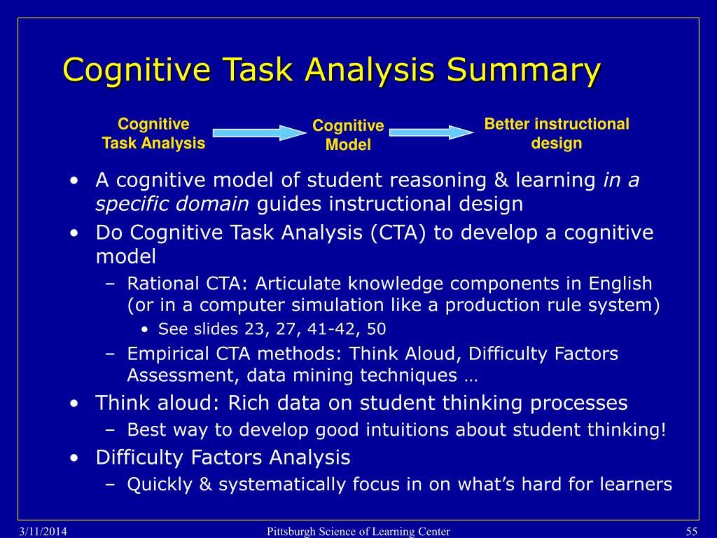 Cognitive Task Analysis Summary