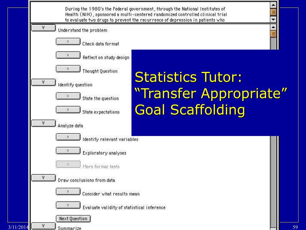 Statistics Tutor: