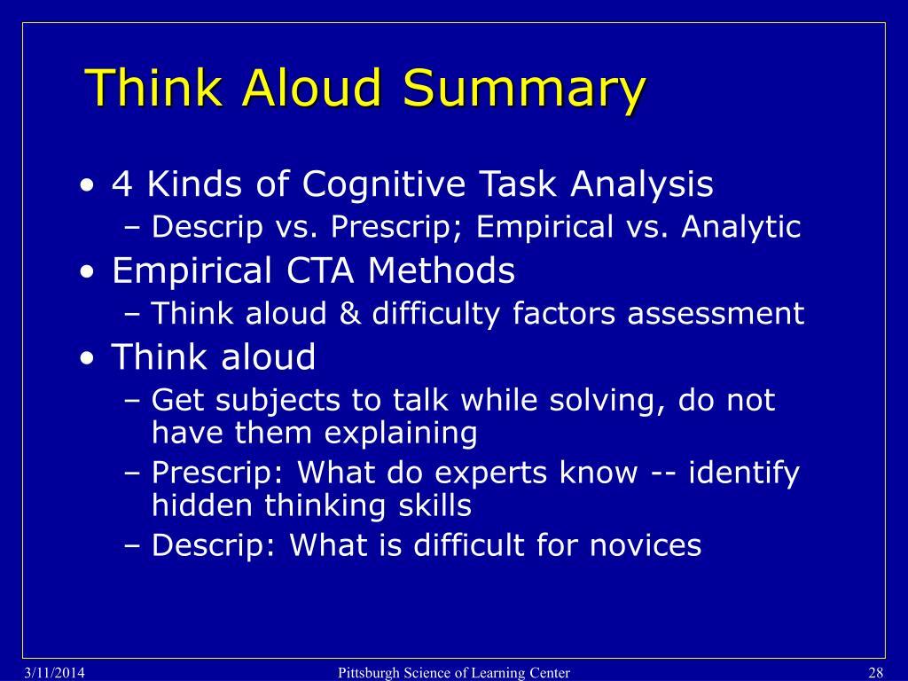 Think Aloud Summary