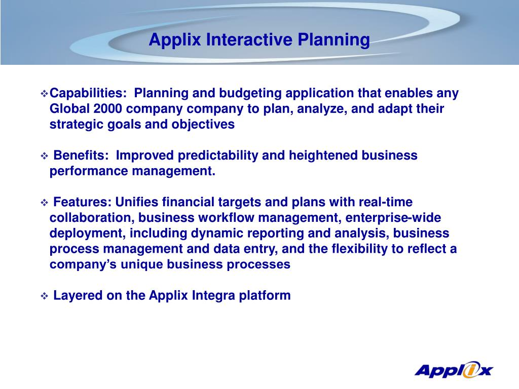 Applix Interactive Planning