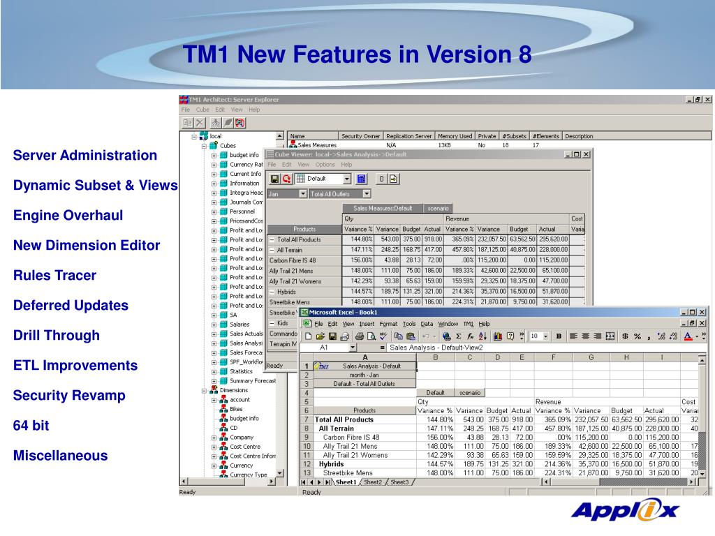 TM1 New Features in Version 8