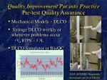 quality improvement put into practice pre test quality assurance22