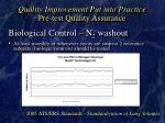 quality improvement put into practice pre test quality assurance25