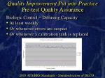 quality improvement put into practice pre test quality assurance27