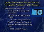 quality improvement put into practice test quality assurance qse personnel34