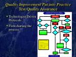 quality improvement put into practice test quality assurance36