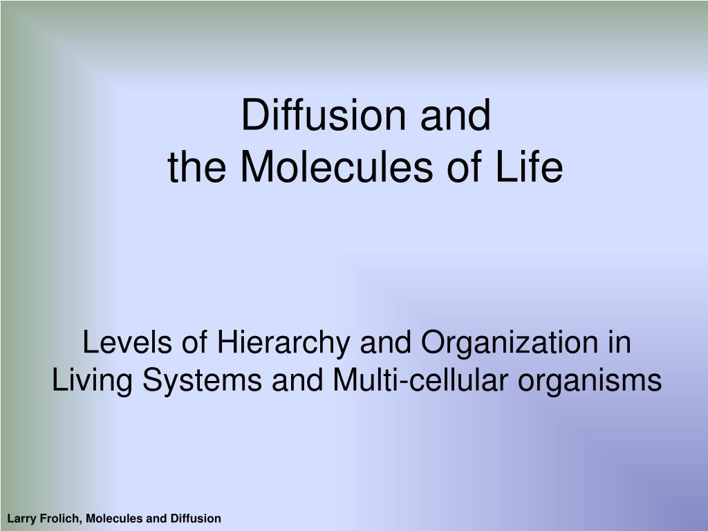 Diffusion and
