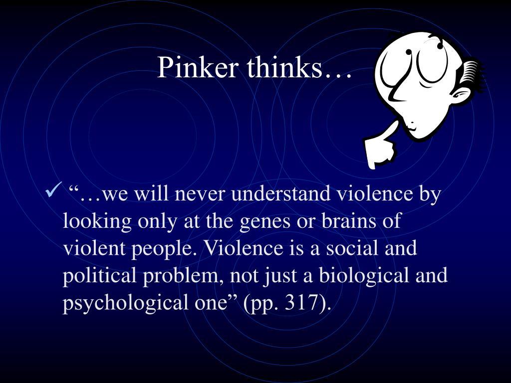 Pinker thinks…