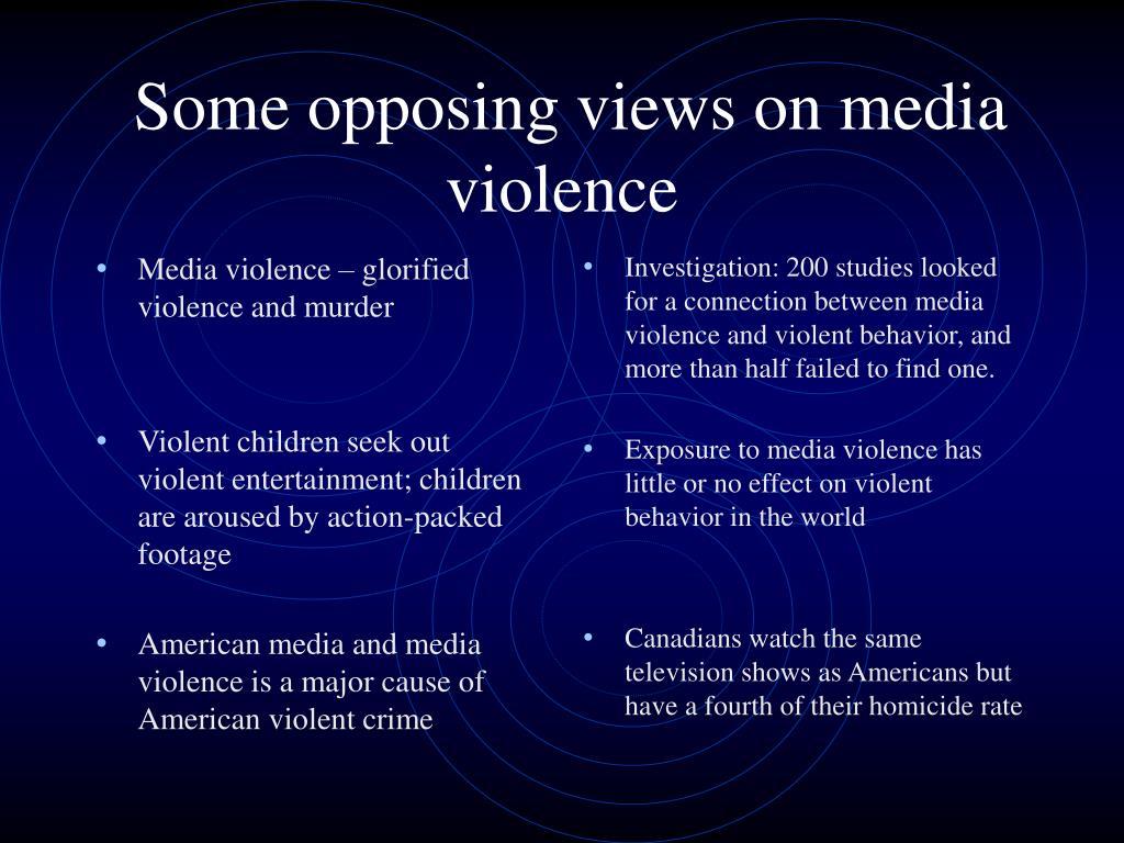 Media violence – glorified violence and murder