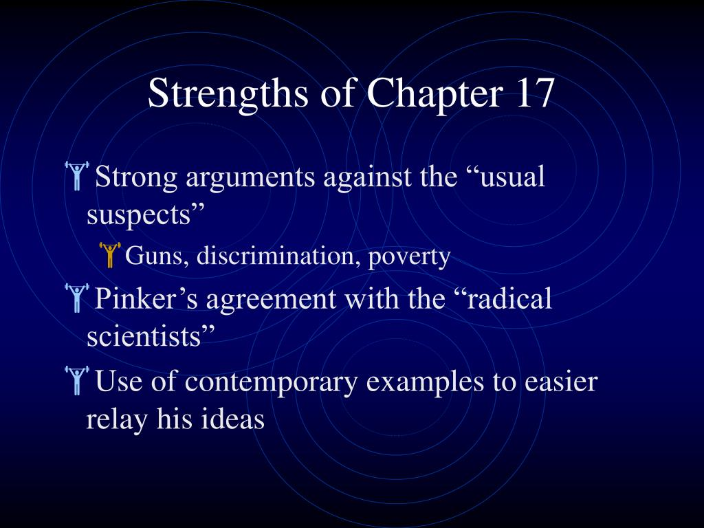 Strengths of Chapter 17