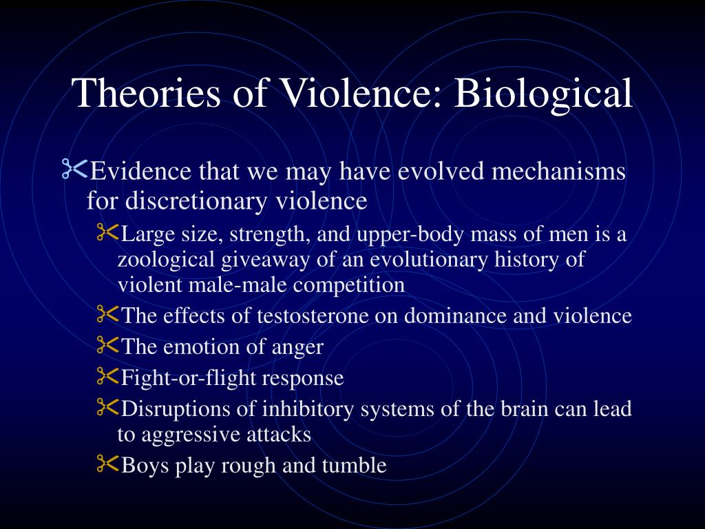 Theories of Violence: Biological