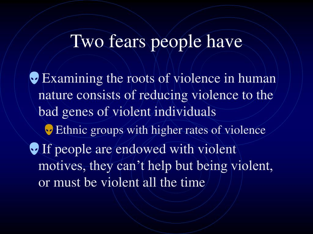 Two fears people have