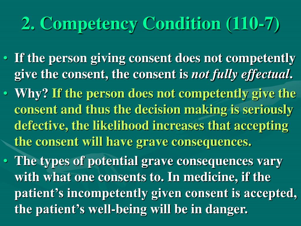 2. Competency Condition (110-7)