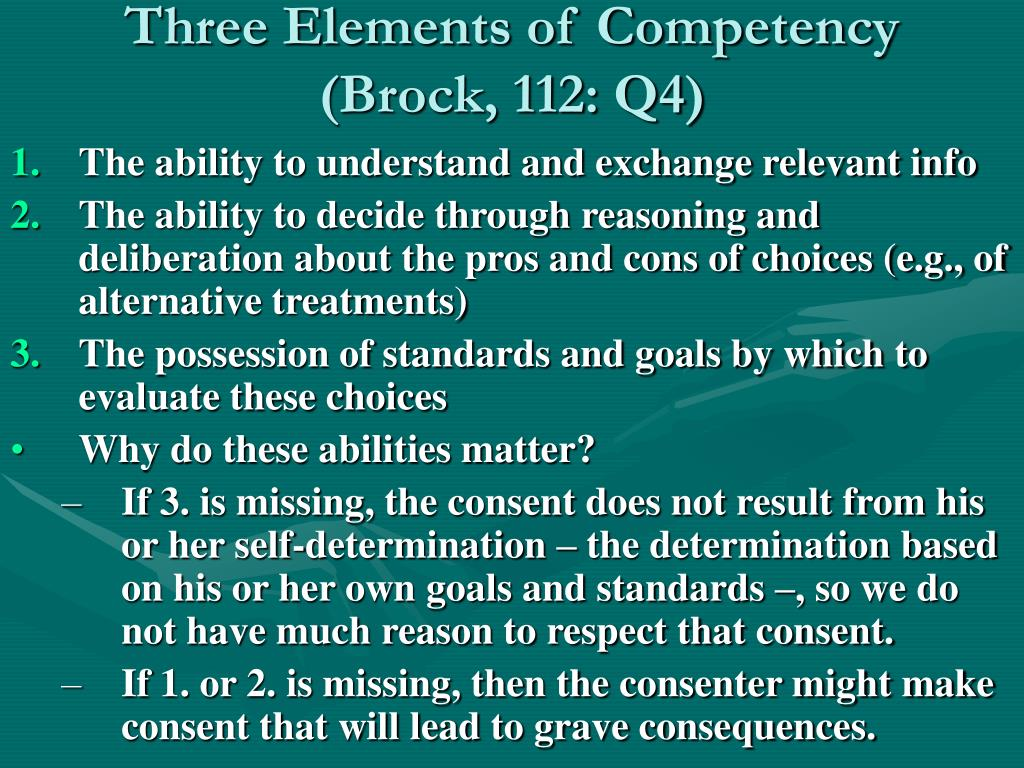 Three Elements of Competency