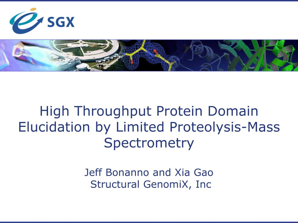 High Throughput Protein Domain Elucidation by Limited Proteolysis-Mass Spectrometry