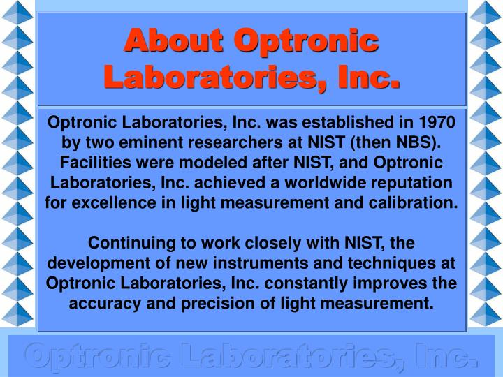 About optronic laboratories inc
