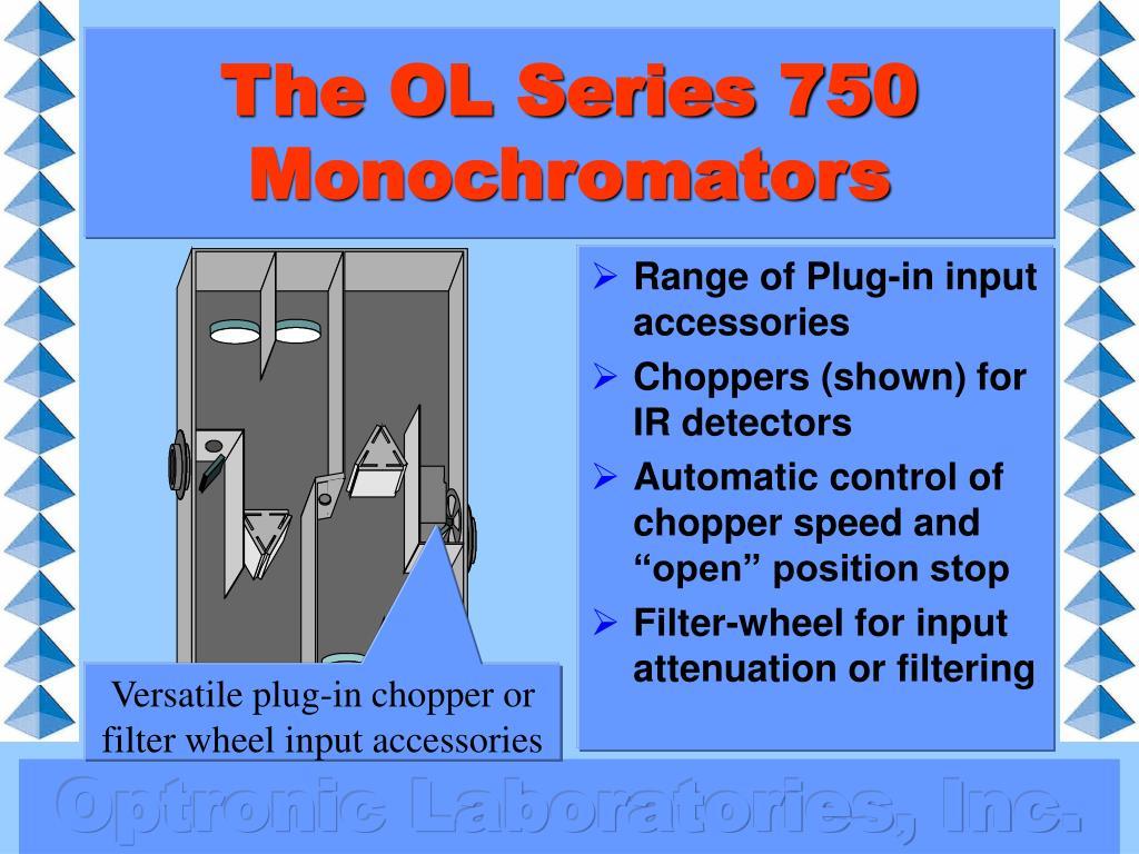 The OL Series 750 Monochromators