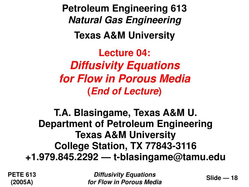 Petroleum Engineering 613